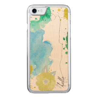 Hello Typography Watercolor Abstract Carved iPhone 8/7 Case