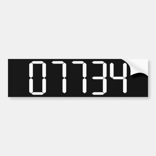 """""""HELLO"""" - Upside-down Calculator Word - BUMPER STI Bumper Stickers"""