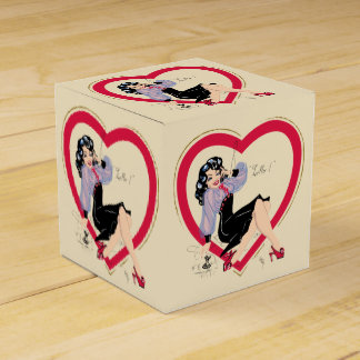 Hello Valentine Pin-Up Girl Favour Boxes