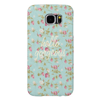 Hello Vintage floral pattern shabby rose chic Samsung Galaxy S6 Cases