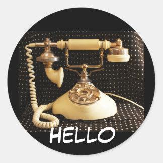 Hello, Vintage phone stickers