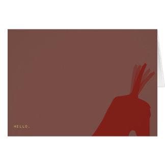 Hello.  Vizsla Card. Card
