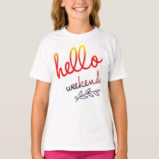 Hello Weekend Girls' Fine Jersey T-Shirt