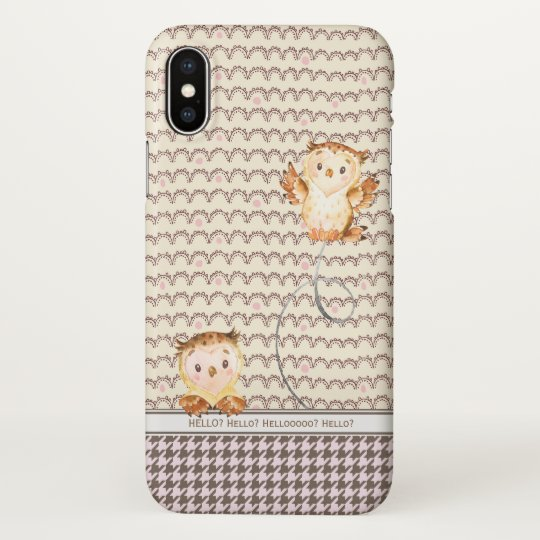 Hello? Whooo Is It? Cute Owls Personalised Funny