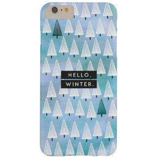 Hello, Winter: Blue Barely There iPhone 6 Plus Case