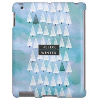 Hello, Winter: Blue iPad Case