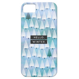 Hello, Winter: Blue iPhone 5 Covers