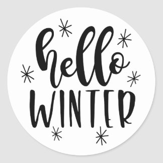 Hello winter sticker