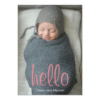 Hello World Baby Announcement