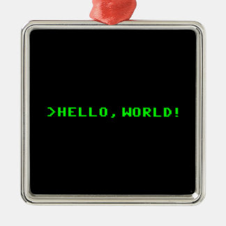 Hello World Computer Programming Christmas Ornament