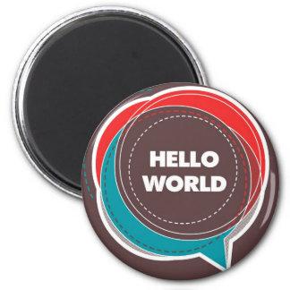 hello world refrigerator magnets