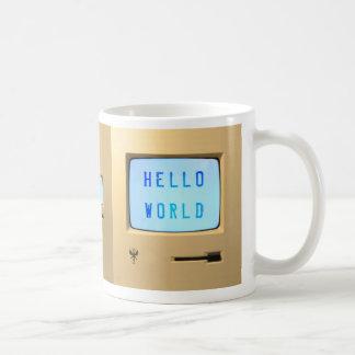 Hello World Personal Computer Basic White Mug