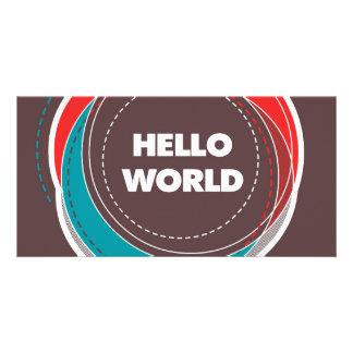 Hello World Photo Card Template