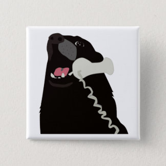 HELLO YES THIS IS DOG telephone phone 15 Cm Square Badge