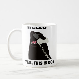 HELLO YES THIS IS DOG telephone phone Coffee Mug