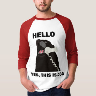 HELLO YES THIS IS DOG telephone phone T Shirts