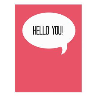 Hello you! postcard