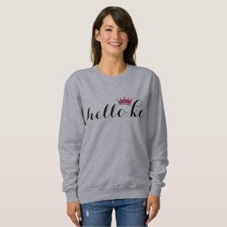 HelloKc Blog Inspired Sweatshirt (magenta crown)