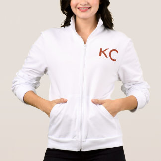 HelloKc Fleece Jacket (White only - red letters)