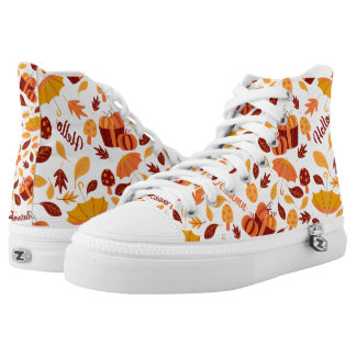 Hellow Autumn Pattern High Tops