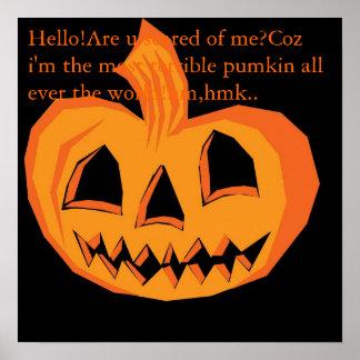 Helloween Pumkin Poster