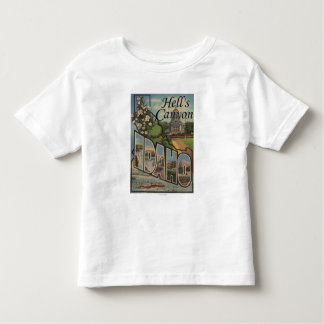 Hell's Canyon, Idaho - Large Letter Scenes Toddler T-Shirt