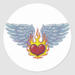 Hells Flames and Angel Wings Sticker