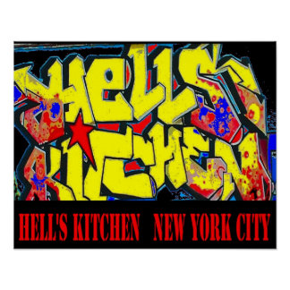 Hell's Kitchen District Tag, New York City Poster