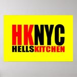 Hell's Kitchen New York City Logo Poster