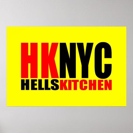 Hell's Kitchen New York City Logo Print