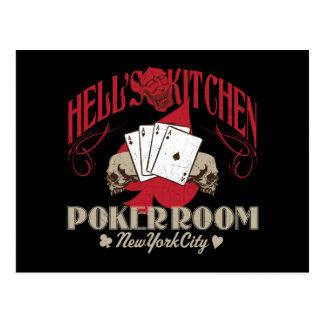 Hells Kitchen Poker Room New York City Postcard