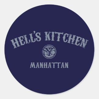 Hell's Kitchen Round Sticker