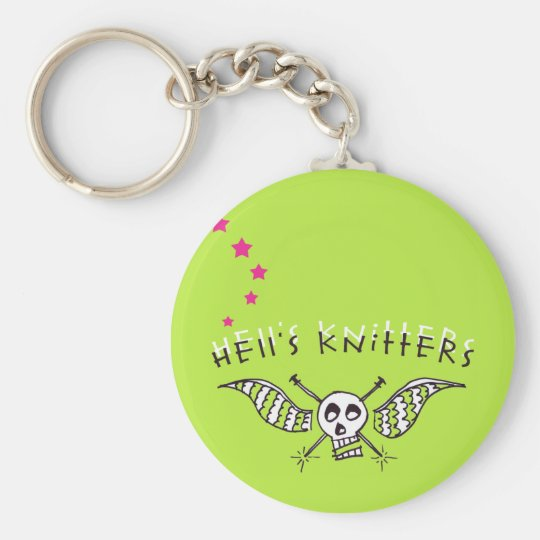 Hell's Knitters keychain