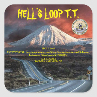 HELL'S LOOP T.T. 2017 SQUARE STICKER