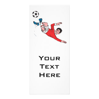 helluva soccer kick personalized rack card