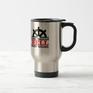 helm hell stainless steel travel mug