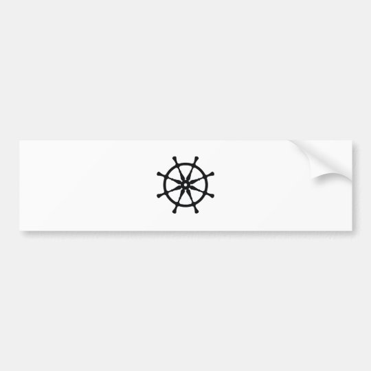 Helm Silhouette Bumper Sticker