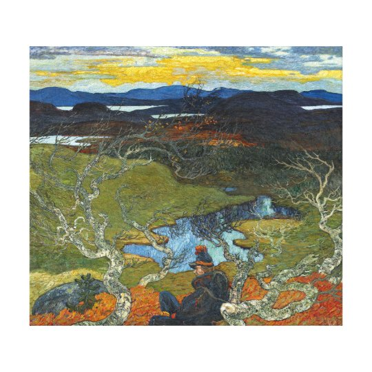 Helmer Osslund Spring Evening Behind Kiruna Canvas Print