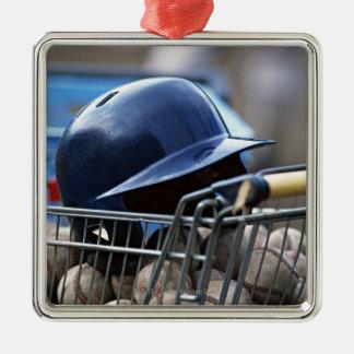 Helmet and Baseball Ball Christmas Ornament