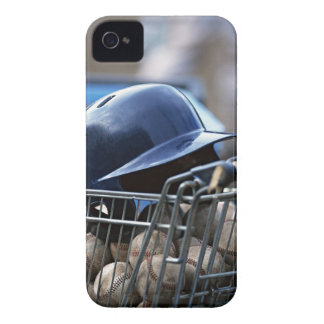 Helmet and Baseball Ball iPhone 4 Cover