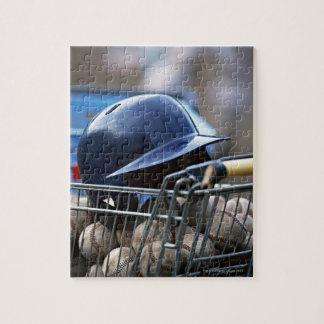 Helmet and Baseball Ball Jigsaw Puzzle