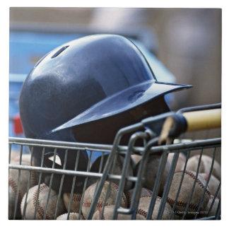 Helmet and Baseball Ball Tile
