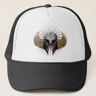 Helmet and wings trucker hat