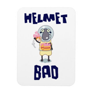 Helmet Bad Rectangular Photo Magnet