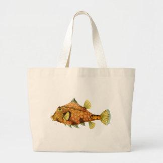Helmet Cowfish Tote Bags