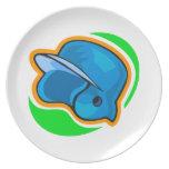helmet dinner plates