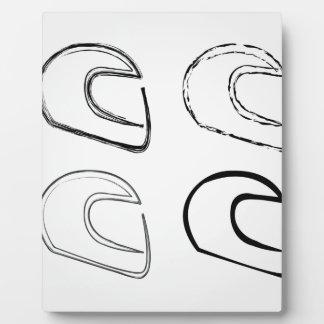 Helmet Display Plaque
