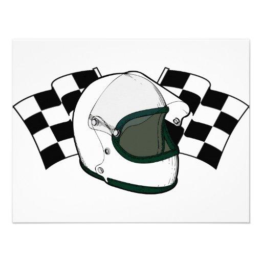 Helmet & Flags Invite