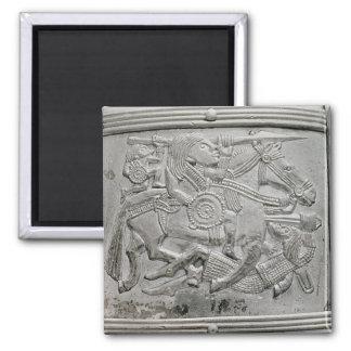 Helmet fragment, from Sutton Hoo Treasure Magnet