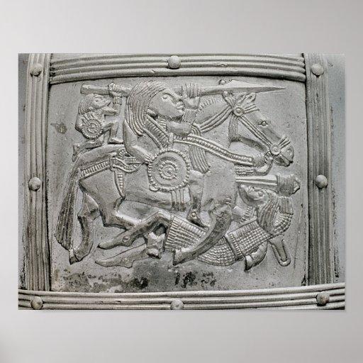 Helmet fragment, from Sutton Hoo Treasure Print